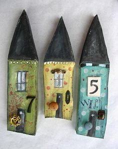 Mixed media collage-recycled elements-assemblage art