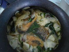 bangus sa labong (milkfish with bamboo shoots)
