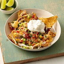 Cheesy Chicken Nachos WW points 8+ #WW #8pointsplus #weightwatchers