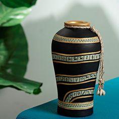 Rs. 899 Aapno Rajasthan Urn Shaped Vase In Gold Design,Vases