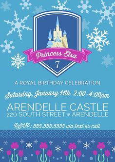 FROZEN Inspired Invitation Frozen Party by aprettylittleparty