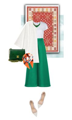 """""""Persian street style"""" by chloe-86 ❤ liked on Polyvore featuring RE/DONE, Paper London, W118 by Walter Baker, Chanel, Monet, Loewe and Gianvito Rossi"""