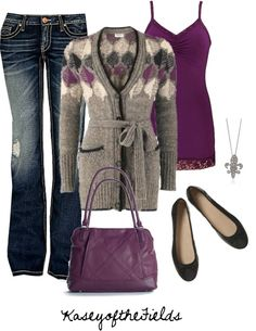 """""""Purple and Black"""" by kaseyofthefields ❤ liked on Polyvore fashion, winter style, fall outfits, winter outfits, purple sweater outfit, cozy sweaters, shoe, black, plum"""