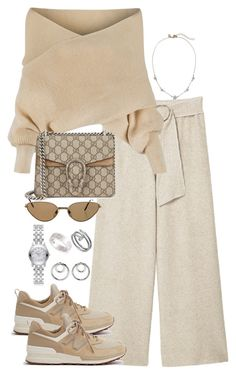 """Untitled #5423"" by theeuropeancloset on Polyvore featuring MANGO, WithChic, Gucci, New Balance, Cartier and Alexander Wang"