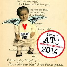 ATC Art Project 2014 - Artist Trading Card Exchange (Red Lead ...