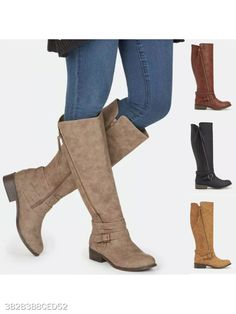Plain Flat Round Toe Date Outdoor Flat Boots #Shoes #Boots #Kinsey_Sue #clothes #girls #fashion #trend #moda #women #dress