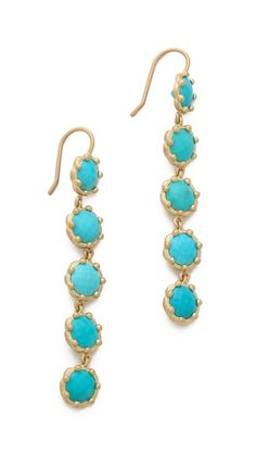 Jamie Wolf Tiered Turquoise Earrings. Turquoise jewels are the perfect accessory for Fall!