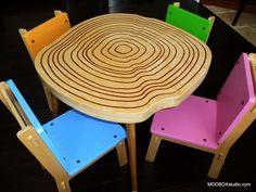 http://www.modernhomeidea.com/wp-content/uploads/2012/01/Kids-Table-and-Chairs-Modern-Furniture-for-Kids-Room-Table-for-Kids-2Modern-Style-Chairs-Wood-Tree-Stump-Design.jpg