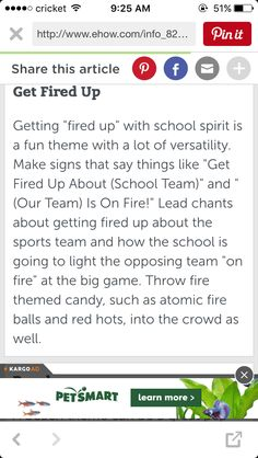 To get the school fired up at the pep rally