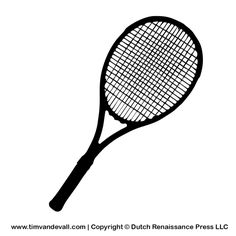 printable mini tennis racket template - Yahoo Image Search Results