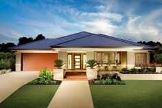 Exterior Of Homes Indian Home Design Co Hip Roof Design, House Roof Design, House Outside Design, Facade House, House Plans One Story, New House Plans, Modern House Plans, Story House, Indian Home Design