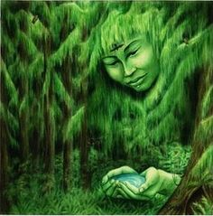 Love of the Goddess: Gyhldeptis, Native American Goddess of the Forests - Haida in Canada and Tlingit of USA Alaska