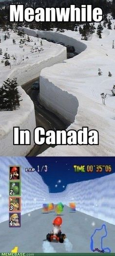 And Frappe Snowland is definitely just Canada. | 21 Things We Learned From Mario Kart 64