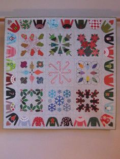 My Christmas Album wall quilt by tinacurran on Etsy https://www.etsy.com/listing/117519059/my-christmas-album-wall-quilt