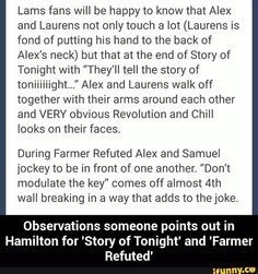 Story of Tonight and Farmer Refuted