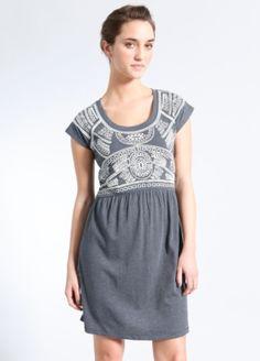 Crochet Print Knit T-Dress