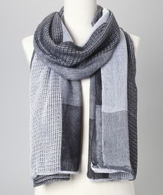 Black & White Mixed Knit Scarf | Daily deals for moms, babies and kids