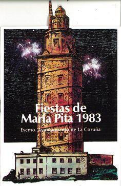 PROGRAMA de las Fiestas de María Pita : 1983. -- [A Coruña Ayuntamiento de La Coruña] D. L. 1981 (Gráficas Coruñesas). -- [22] p. : il., fot. ; 24 cm. Pita, Movie Posters, Fiestas, Deporte, Live, City, Places, Film Poster, Billboard