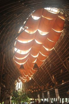 Gallery of Bamboo Cultural Restaurant Platform / akasha+asso.-Gallery of Bamboo Cultural Restaurant Platform / akasha+associates architecture – 1 Gallery of Bamboo Cultural Restaurant Platform / akasha+associates architecture – 1 - Cultural Architecture, Bamboo Architecture, Sacred Architecture, Vernacular Architecture, Architecture Details, Bamboo Restaurant, Restaurant Design, Renzo Piano, Bamboo Structure