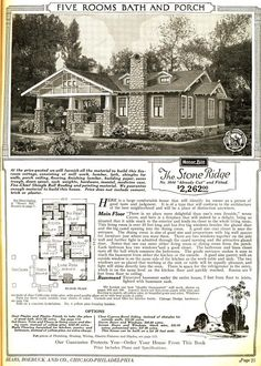 The Stone Ridge, from the 1921 Sears Modern Homes catalog.