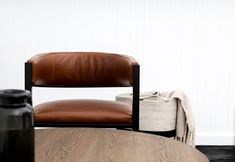 A stylish bucket shape dining chair in refined leather detail. The Oso dining chair by Dark Horse. #diningchair #modern #design #leather #luxury #luxurydesign Strong Curves, South African Design, Leather Dining Chairs, Dark Horse, Floor Chair, Modern Furniture, Horses, Interior, Modern Design