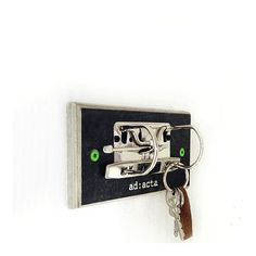 Key hanger made from recycled school binders
