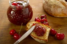 Easy Cherry Jam Recipe - super easy and quick to make, this cherry jam is exquisite. You can use fresh or frozen cherries for this so you can enjoy it all year round. Another great gift from your kitchen!