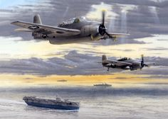 "During WWII a gap existed where land-based aircraft could not provide air cover for the lifeline convoys sailing to Britain from North America. That mid-Atlantic gap was the prime hunting grounds for the German U-boat wolf packs until it was closed by the escort carrier groups. These small ""Baby Flat Tops,"" armed with Grumman TBM Avenger torpedo bombers and FM Wildcat fighters, could hunt down and destroy submarines as far from the convoys as required. This picture shows the first ""Jeep,""…"