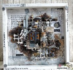 13 pasji by Ayeeda: Be brave - rusty frame for 13 arts Mixed Media Canvas, Mixed Media Art, Wat Do, Mixed Media Scrapbooking, Blank Canvas, Mix Media, Art Techniques, Shadow Box, Altered Art