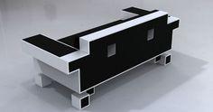 Retro Alien Couch by Igor Chak Flip Clock, Cube, Industrial, Interior Design, Retro, Furniture, Home Decor, Nest Design, Homemade Home Decor