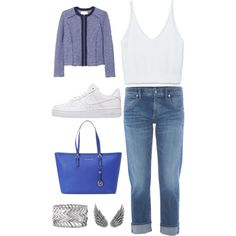 Relaxing Saturday by andreabosch on Polyvore featuring polyvore, moda, style, Zara, Rebecca Taylor, A Gold E, NIKE, MICHAEL Michael Kors, AS29 and Express