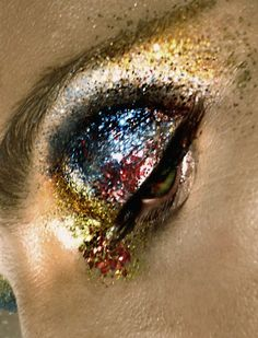 Beauty by Marco Marezza. Rainbow glitter for the eyes!