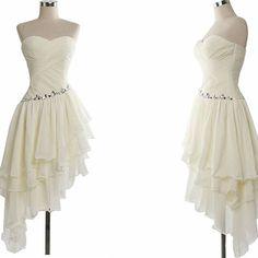 Homecoming dress,chiffon homecoming dress,pleat homecoming dress,short noble homecoming dress,beige homecoming dress,short prom dress,xh38