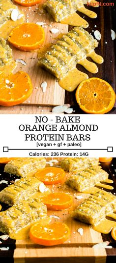 No Bake Orange Almond Protein Bars are perfectly sweetened and are moist, soft and chewy. These are vegan, gluten free and paleo. Moreover, these bars are suitable for all types of diet and for kids as well [ Vegan + GF + Paleo ] #vegan #glutenfree #paleo kiipfit.com