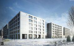 Cluster Produktionstechnik: Vergabe an Investor Capricorn Development (Düsseldorf) mit Architekt Henn (München); Baugebinn Anfang 2014, Fertigstellung Sommer 2015. Foto: Capricorn/Henn
