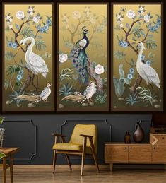 Welcome to wide range of peel and stick and traditional wallpapers. See our whole selection perfect for improving the environment of your bedroom, living room, kitchen, office, and more! Chinoiserie Floral Wall Mural with Birds Peel and Stick Wallpaper Self Adhesive Accent Wall Traditional Wallpaper Stores, Art Deco Wallpaper, Chinoiserie Wallpaper, Luxury Wallpaper, Watercolor Wallpaper, Gold Wallpaper, Bird Wallpaper Bedroom, Geometric Removable Wallpaper, Palm Leaf Wallpaper