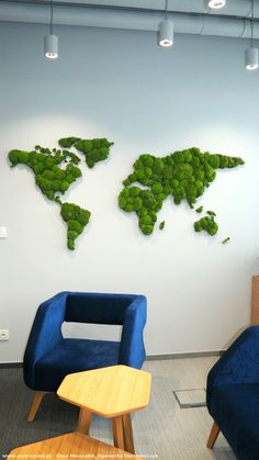 Office in Cracow Moss world map