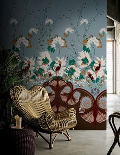 The perfect wallpaper: Jasminum by Wall&decò design Antonio Marras