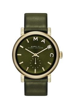 MARC+BY+MARC+JACOBS+'Baker'+Leather+Strap+Watch,+37mm+available+at+#Nordstrom