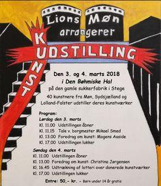Lions Clubs kunstudstilling i Stege — Laila Cichos Love Art, Lions, Club, Lion