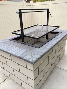 Items similar to Santa Maria Countertop Drop In Frame Wood Charcoal Grill Pit by JD Fabrications BBQ on Etsy Wood Charcoal, Charcoal Grill, Outdoor Oven, Outdoor Cooking, Outdoor Fire, Santa Maria Bbq, Parrilla Exterior, Brick Bbq, Outdoor Kitchen Countertops