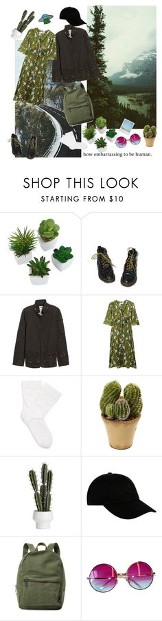 """""""greenie"""" by realshannon ❤ liked on Polyvore featuring Dr. Martens, Zadig & Voltaire, Polaroid, MANGO, Wolford, STONE ISLAND, Herschel Supply Co. and Janis"""