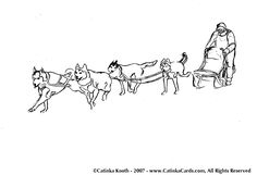 dog sled drawing google sk