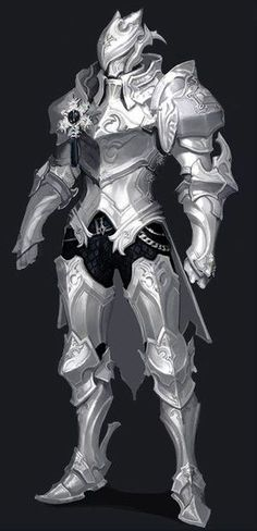 [Aion Concept art of new armours sets! Dragon Armor, Dragon Knight, Knight Art, Fantasy Armor, Fantasy Weapons, Dark Fantasy Art, Fantasy Character Design, Character Design Inspiration, Character Art