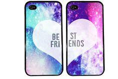 Galaxy Case / Best Friends iPhone 4 Case Pattern by KasiaKases, $22.99