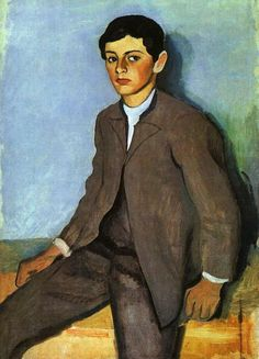August Macke (1887-1914), Farmboy from Tegernsee, 1910.