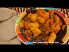 Ethiopian Vegetable Wot recipe video in Amharic with English subtitles www.howtocookgreatethiopian.com