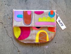 grand escape  large rounded clutch TM25 by tiffmanuell on Etsy, $120.00