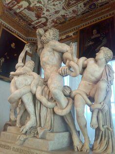 Firenze , Galleria degli Uffizi, copia del Laocoonte