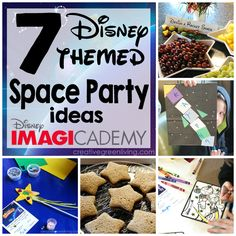 Fun spaced themed party ideas. She used lots of stuff from the dollar store to pull it off.